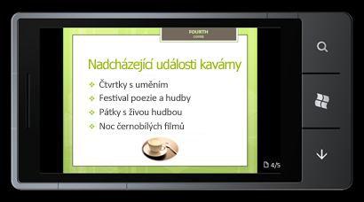 PowerPoint Mobile2010 pro Windows Phone7: Úpravy a zobrazování z telefonu