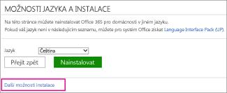 Další možnosti instalace