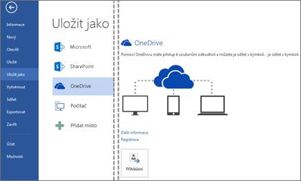 Uložení souboru na OneDrive