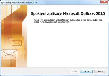 Úvodní okno Outlooku 2010