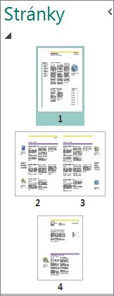 Podokno Navigace na stránce ukazující jednostránkové i dvoustránkové rozložení