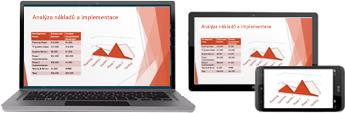 Zahájení online schůzky z PowerPointu