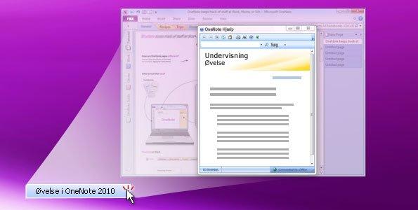 Øvelse i OneNote 2010