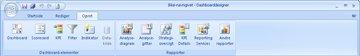 The Create tab in Dashboard Designer