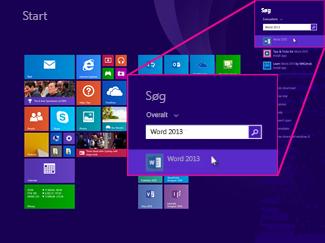 da dk article Kan du ikke finde Office programmer i Windows Windows eller Windows ce ae b dd dead