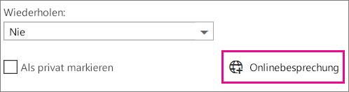 Outlook Web App-Onlinebesprechung