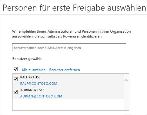 Office 365 Release-Programme – Benutzer hinzufügen
