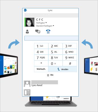 Onlinebesprechung mit Lync