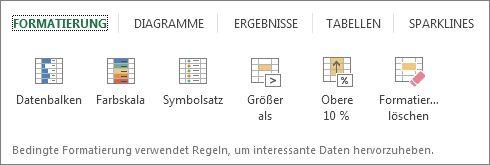 Registerkarte 'Formatierung'
