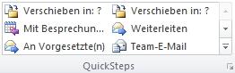QuickSteps-Katalog