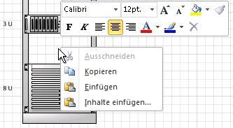 Klicken mit der rechten Maustaste zum Einfügen eines kopierten Shapes an der Position des Mausklicks
