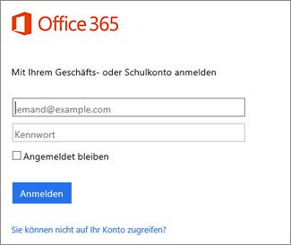 "Anmeldeseite ""portal.office.com"""