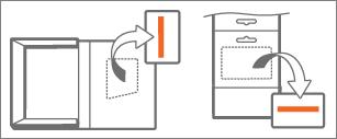 Verpackung und Karte