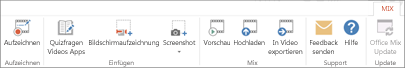 "Registerkarte ""Office Mix"""