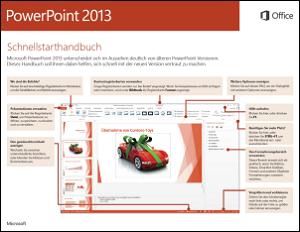 PowerPoint 2013 – Schnellstarthandbuch