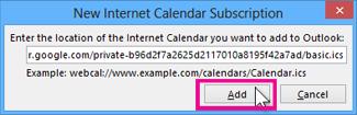 internet calendar subscription