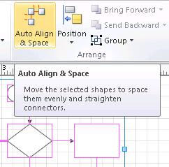Auto-Align and Space button