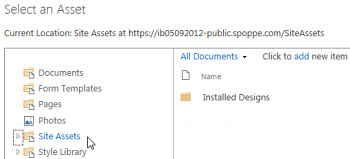 Add file from SharePoint