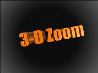 Angled 3-D text