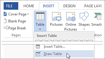 Draw table