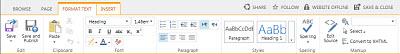 SharePoint Online Public Website Format tab