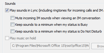 Change Lync alert settings