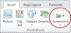 Screenshot button