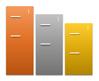 Descending Block List SmartArt graphic layout