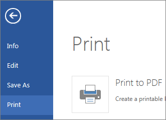 Print command in Word Web App