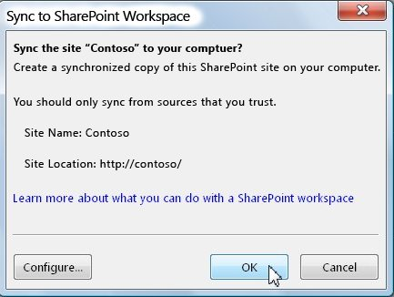The Sync to Computer dialog box