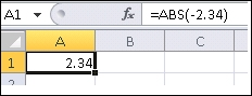 formula is shown in the formula bar