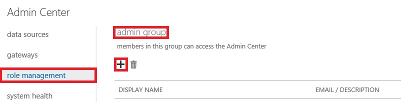 Admin Center - Add Co Admins