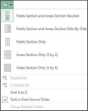 Field List Tools menu