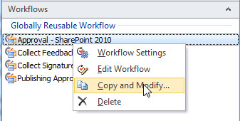 Copy and Modify a Workflow