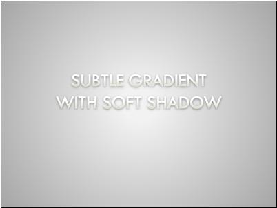 Gradient-filled text with soft shadow