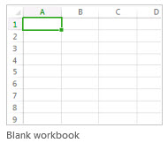 New blank workbook
