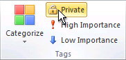 Private command in the Tags group