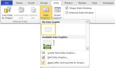 Select No Data Graphic to remove a data graphic from your shape.