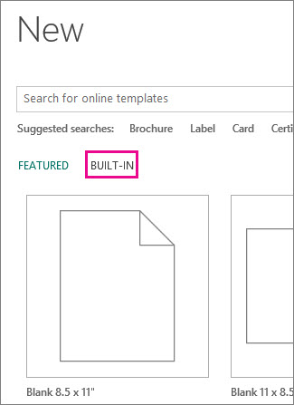 New Built-In