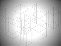 Wire outline rectangles and an