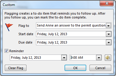 Custom dialog box