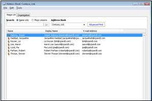 The Outlook Address Book