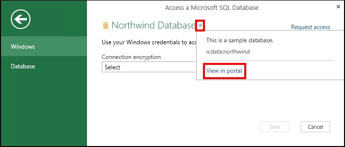 View data source information in the portal