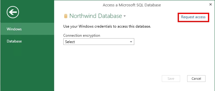 Request access to a data source