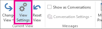 Click View Settings on the View tab.