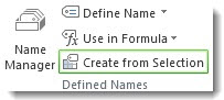Create from Selection command