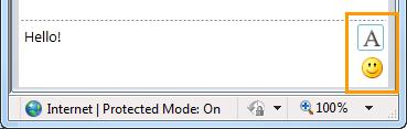 IM formatting buttons