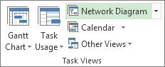 Image of Network Diagram button on the View tab.
