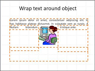 slide with object inserted, text boxes shown, and partial text.