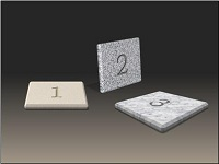 3-D tiles with texture